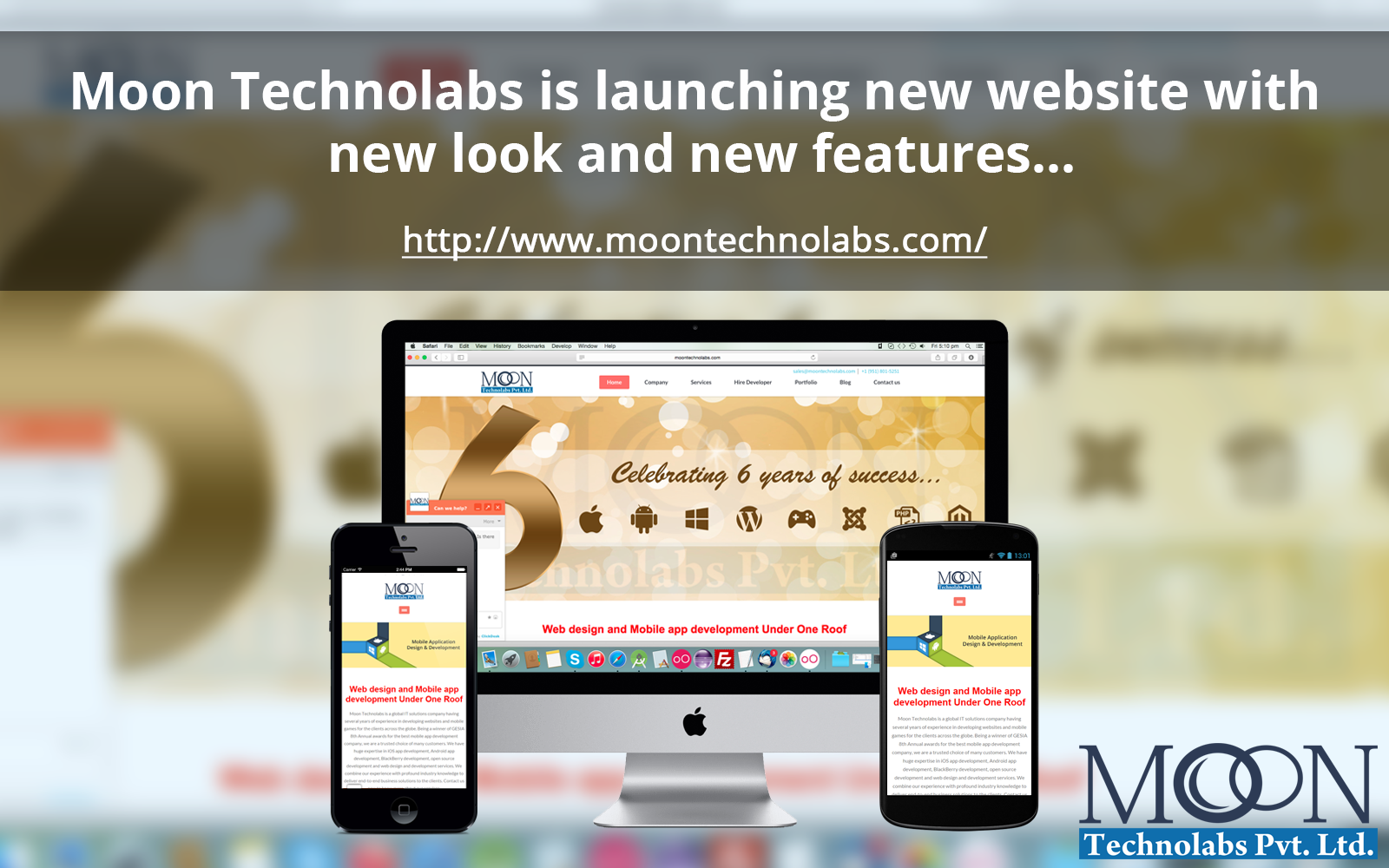 Moon Technolabs announces the launch of redesigned website