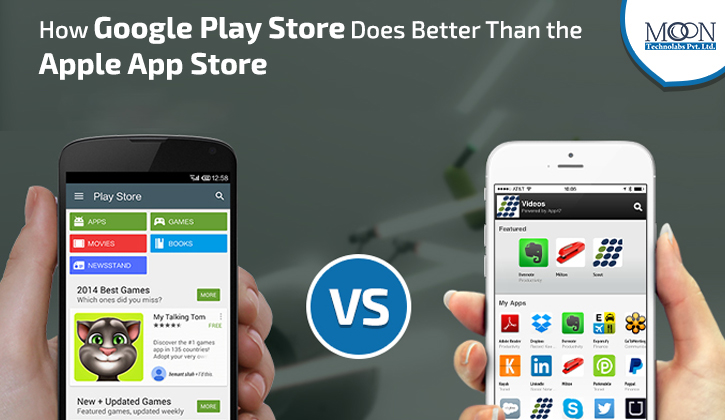 Google vs Apple app store