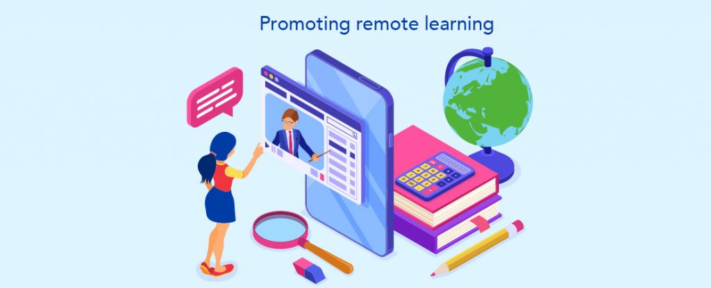 promote remote learning