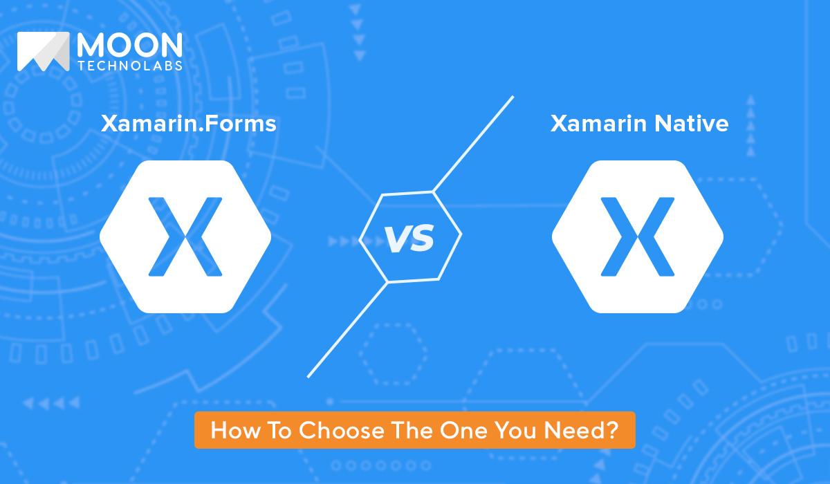 differences Xamarin.Forms vs. Xamarin Native