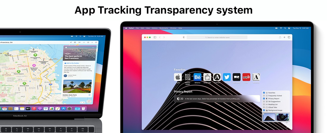transparency of app tracking