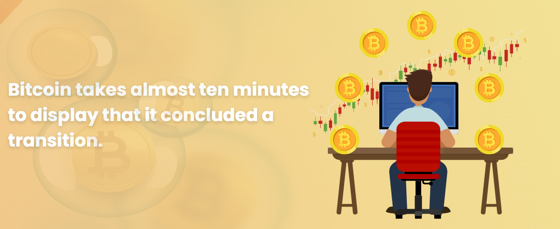 Bitcoin takes almost ten minutes to display that it concluded a transition - Moon Technolabs