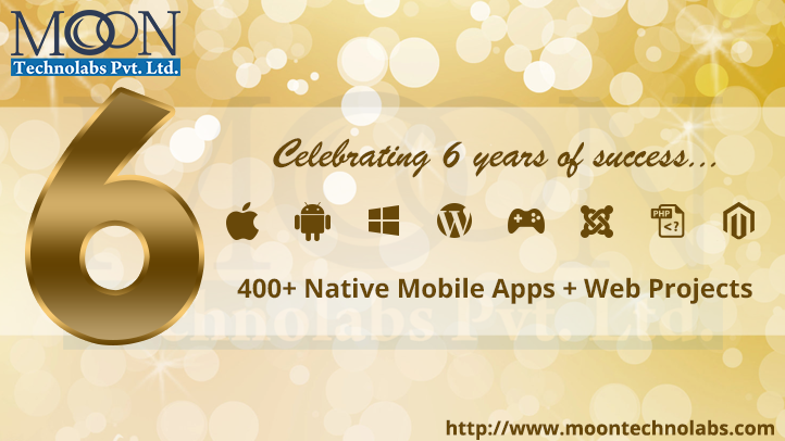 Moon Technolabs Completed 6 Star Studded Years in Mobile App Development