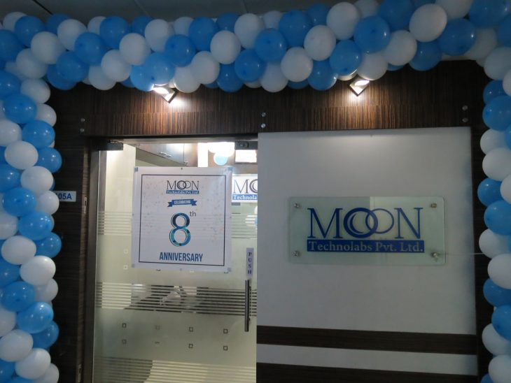 Office main gate decorated